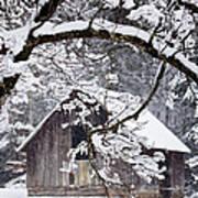 Snowy Barn 2 Art Print