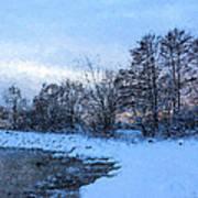Snowy Beach Impressions Art Print