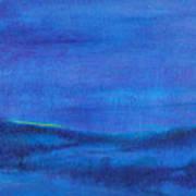 Snowy Blue Nocturne Art Print