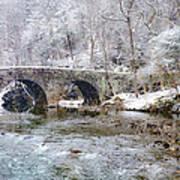 Snowy Bridge Along The Wissahickon Art Print