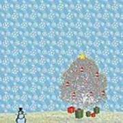 Snowy Christmas Art Print