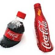 Snowy Coca - Cola Art Print
