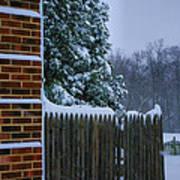 Snowy Corner Art Print