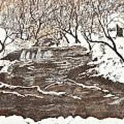 Snowy Creek Art Print by Leo Gehrtz