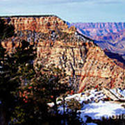 Snowy Grand Canyon Vista Art Print