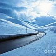 Snowy Highway Art Print