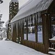 Snowy House Art Print by Tom Wilbert