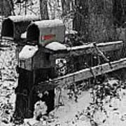 Snowy Mailbox Sc Art Print