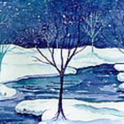 Snowy Moment Art Print