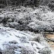 Snowy Mountain Stream V2 Art Print