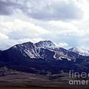 Snowy Mountains In Spring Art Print