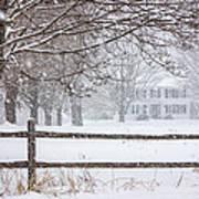Snowy New England Art Print