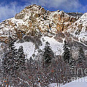 Snowy Ridge Above Bell Canyon - Wasatch Mountains - Utah Art Print