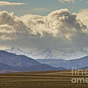 Snowy Rocky Mountains County View Art Print