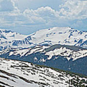 Snowy Terrain Near Top Of Trail Ridge Road In Rocky Mountain Np-co   Art Print