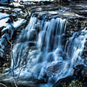 Snowy Waterfall Art Print by Jahred Allen