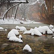 Snowy West Fork Art Print
