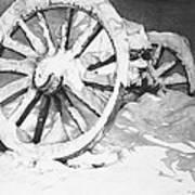 Snowy Wheel  Art Print
