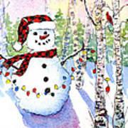 Snowy Wishes Art Print