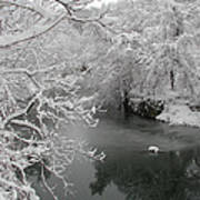 Snowy Wissahickon Creek Print by Bill Cannon