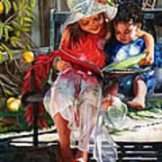 Snuggled Art Print by Maureen Dean