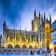 Soaring Perpendicular Gothic Architecture Of Bath Abbey Art Print