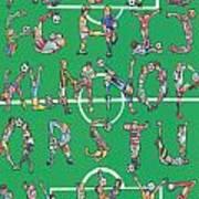 Soccer Alphabet Art Print