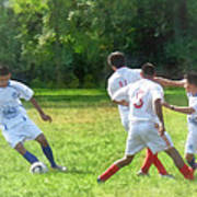 Soccer Ball In Play Art Print