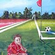 Soccer Field Art Print