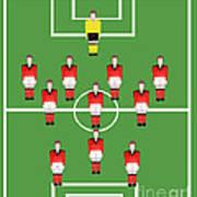 Soccer Team Football Players Art Print