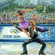 Sochi 2014 - Ice Dancing Art Print
