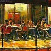 Socializing Art Print by Michael Swanson