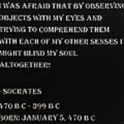 Socrates Quote In Negative Art Print