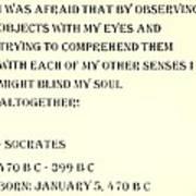 Socrates Quote In Sepia Art Print