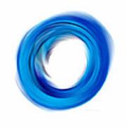 Soft Blue Enso - Abstract Art By Sharon Cummings Art Print