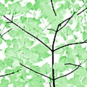 Soft Green Leaves Melody Art Print