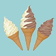 Soft Ice Cream Cone Art Print