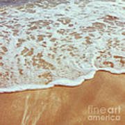 Soft Wave Of The Sea On The Sandy Beach Art Print