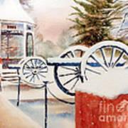 Softly Christmas Snow Art Print by Kip DeVore