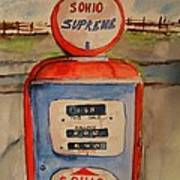 Sohio Gasoline Pump Art Print