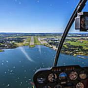 Sola And Sola Airport, Aerial Shot Art Print