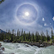 Solar Halo Over Natural Bridge, Yoho V1 Art Print