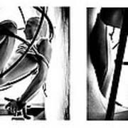 Solar Jail Triptych Art Print
