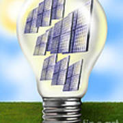 Solar Power Lightbulb Art Print