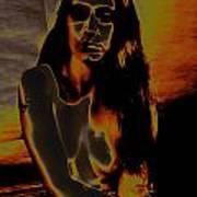 Solarised Nude 4 Art Print