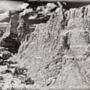 Solarized Badlands Art Print