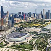 Soldier Field And Chicago Skyline Art Print