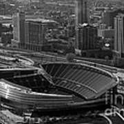 Soldier Field Chicago Sports 05 Black And White Print by Thomas Woolworth