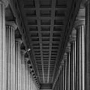 Soldier Field Colonnade Chicago B W B W Art Print
