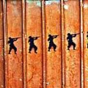 Soldier Graffiti Art Print
